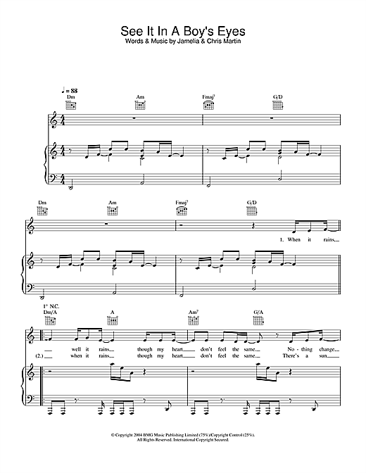 Jamelia See It In A Boy's Eyes sheet music notes and chords. Download Printable PDF.