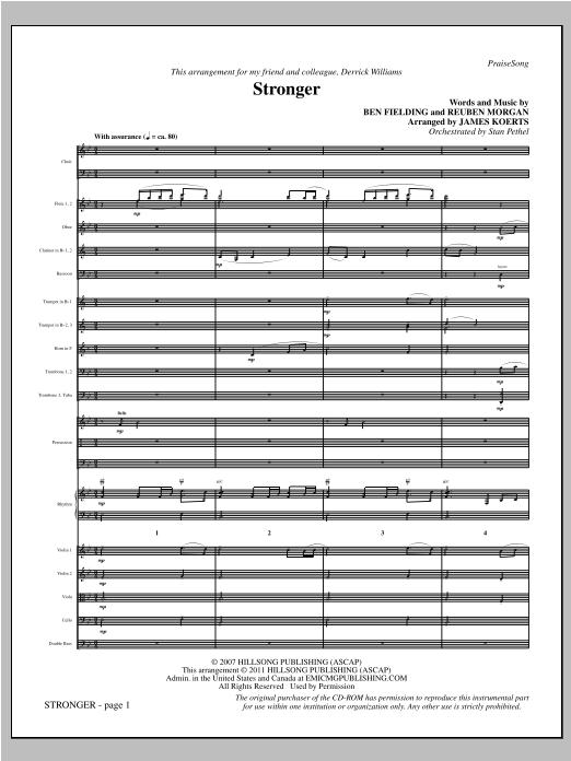 James Koerts Stronger - Full Score sheet music notes printable PDF score