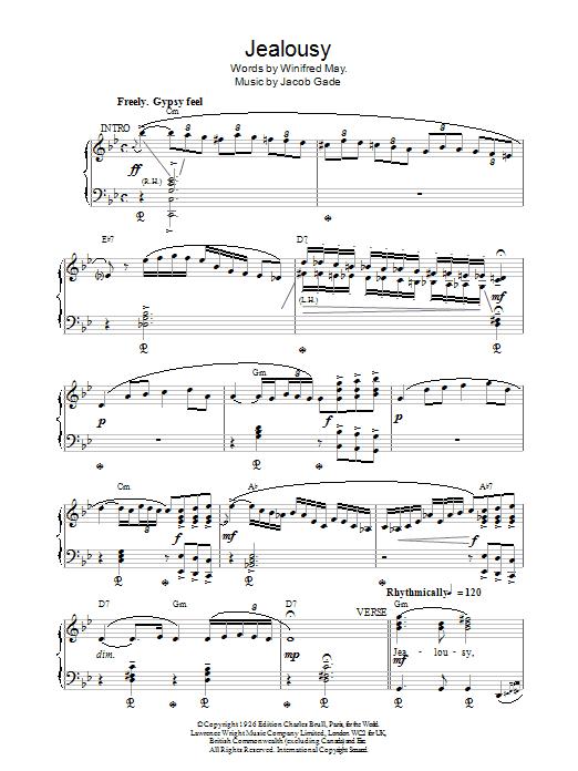 W May Jealousy sheet music notes printable PDF score