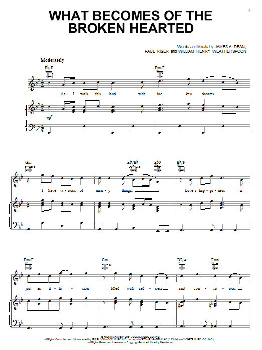 Jimmy Ruffin What Becomes Of The Broken Hearted sheet music notes and chords. Download Printable PDF.