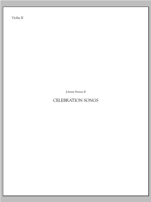 Johann Strauss Celebration Songs (from Die Fledermaus) - Violin 2 sheet music notes printable PDF score