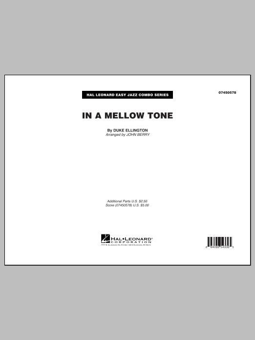 John Berry In A Mellow Tone - Full Score sheet music notes printable PDF score