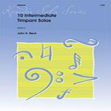 John H. Beck 10 Intermediate Timpani Solos Sheet Music and Printable PDF Score | SKU 371335