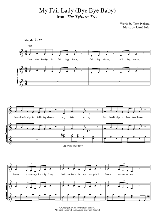 John Harle & Marc Almond My Fair Lady (Bye Bye Baby) sheet music notes and chords. Download Printable PDF.
