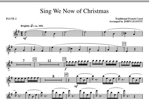 John Leavitt Sing We Now Of Christmas - Flute 2 sheet music notes printable PDF score