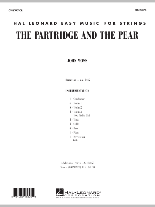 John Moss The Partridge and the Pear - Full Score sheet music notes and chords. Download Printable PDF.