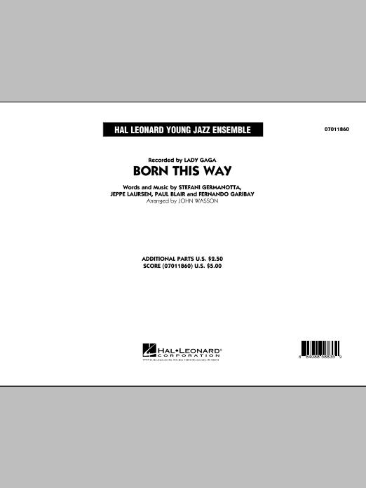 John Wasson Born This Way - Full Score sheet music notes printable PDF score