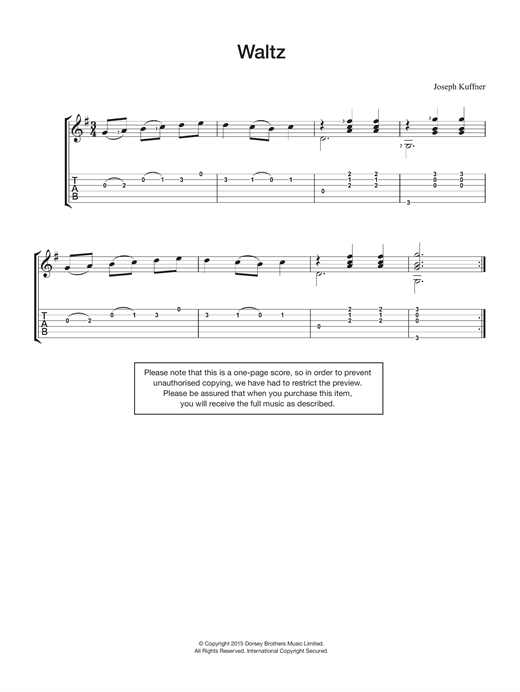 Joseph Kuffner Waltz sheet music notes and chords. Download Printable PDF.