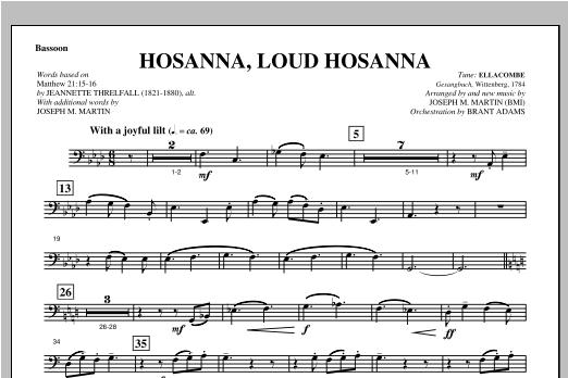 Joseph Martin Hosanna, Loud Hosanna (from