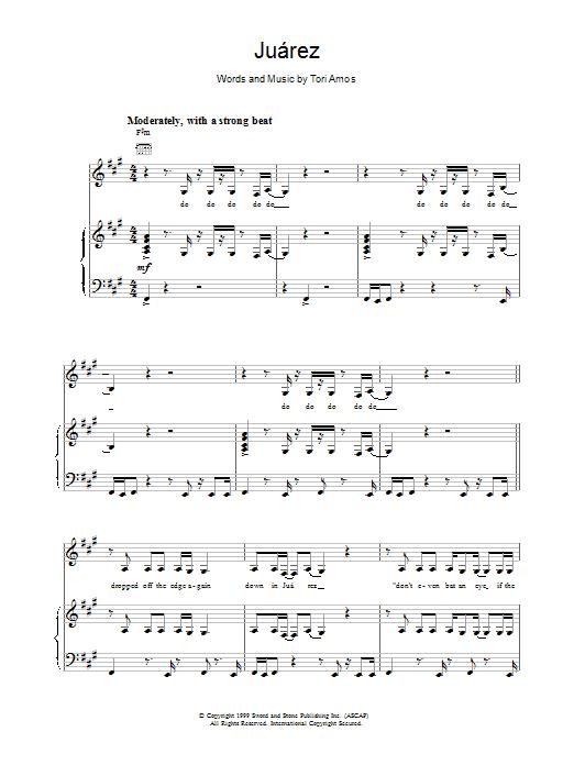 Tori Amos Juarez sheet music notes printable PDF score