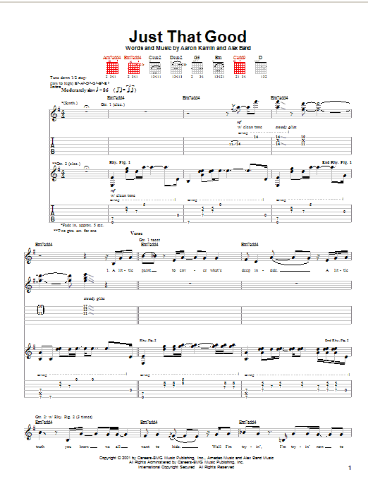 The Calling Just That Good sheet music notes printable PDF score