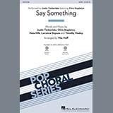 Justin Timberlake Say Something (feat. Chris Stapleton) (arr. Mac Huff) - Bass Sheet Music and Printable PDF Score | SKU 378804