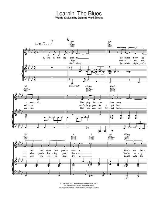 Katie Melua Learnin' The Blues sheet music notes printable PDF score