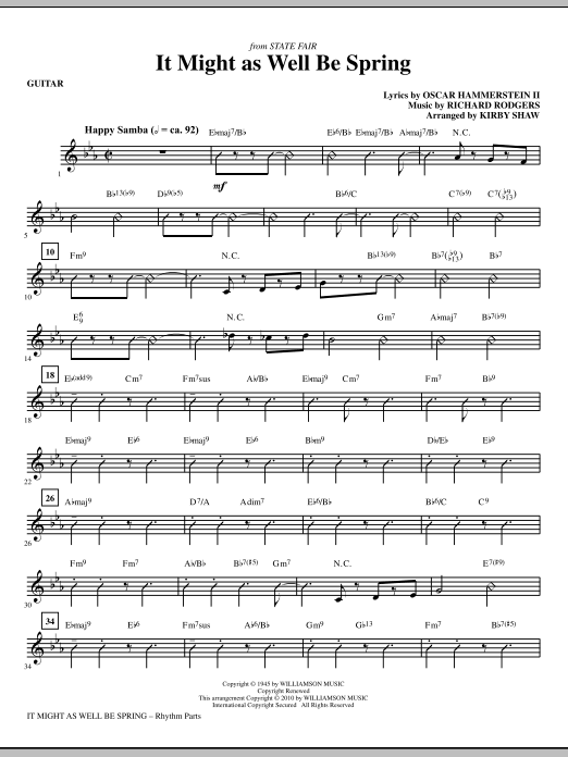 Kirby Shaw It Might As Well Be Spring - Guitar sheet music notes printable PDF score