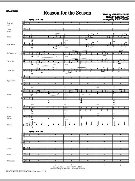Kirby Shaw Reason For The Season - Full Score sheet music notes printable PDF score
