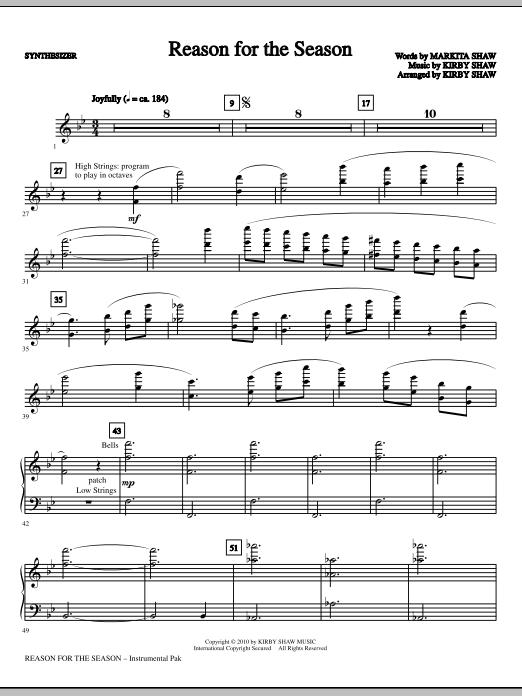 Kirby Shaw Reason For The Season - Synthesizer sheet music notes printable PDF score