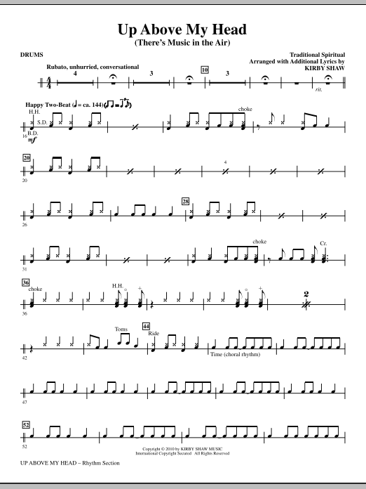 Kirby Shaw Up Above My Head (There's Music In The Air) - Drums sheet music notes printable PDF score