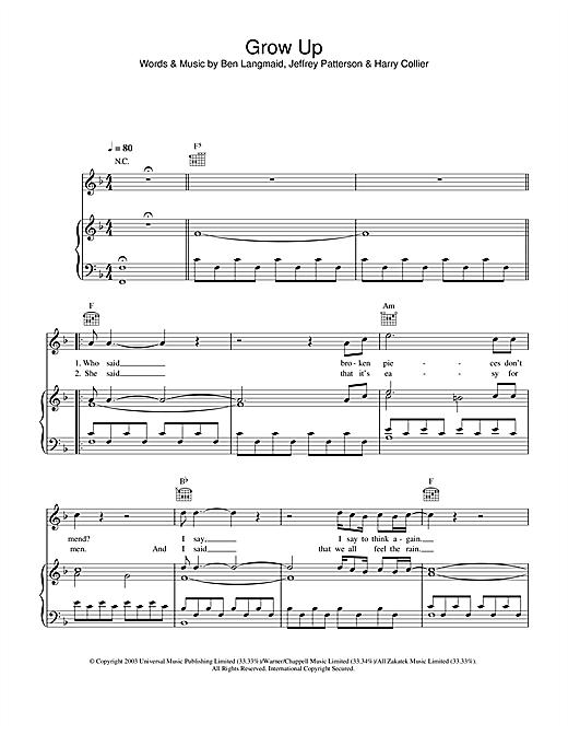 Kubb Grow sheet music notes printable PDF score