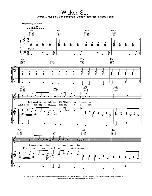 Kubb Wicked Soul sheet music notes printable PDF score
