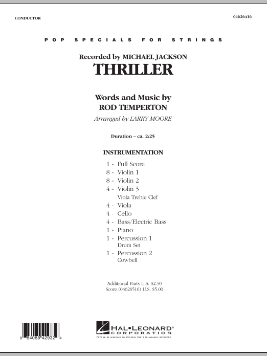Larry Moore Thriller - Full Score sheet music notes and chords. Download Printable PDF.