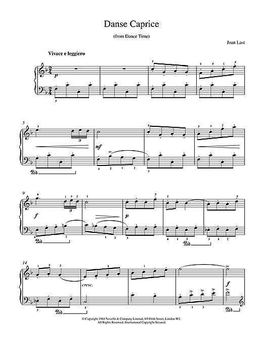 Last Danse Caprice sheet music notes printable PDF score