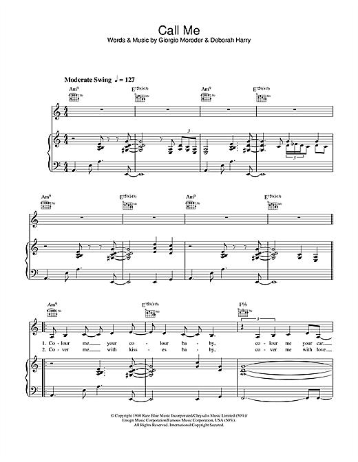 Lea DeLaria Call Me sheet music notes printable PDF score