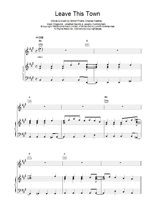 The Levellers Leave This Town sheet music notes printable PDF score