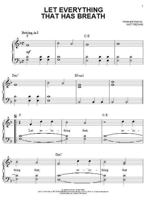 Matt Redman Let Everything That Has Breath sheet music notes printable PDF score