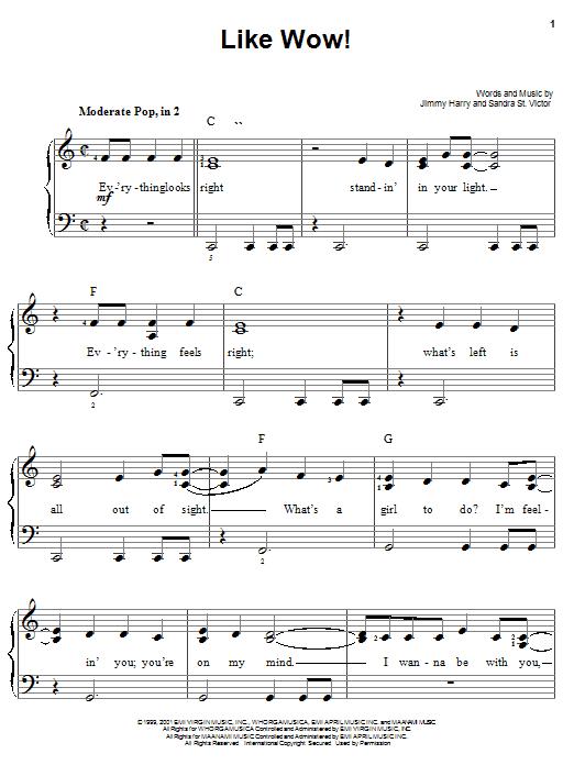 Jimmy Harry Like Wow! sheet music notes printable PDF score