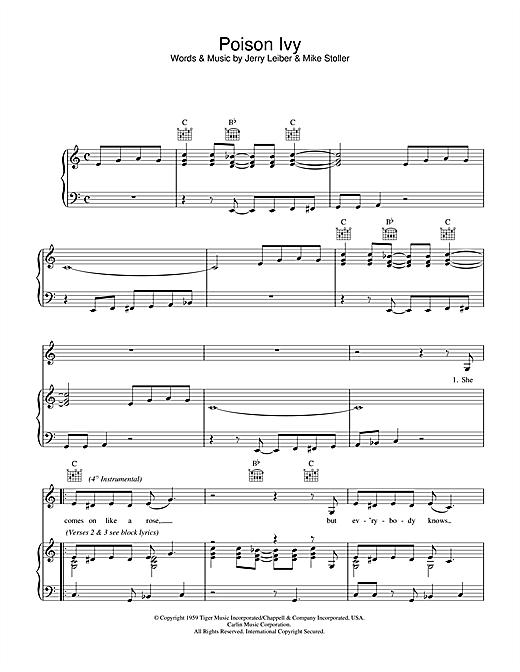 Linda McCartney Poison Ivy sheet music notes printable PDF score