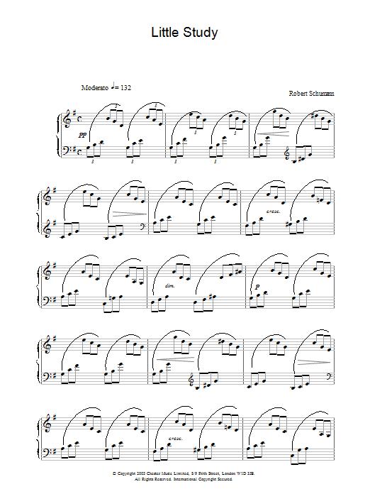Robert Schumann Little Study sheet music notes printable PDF score