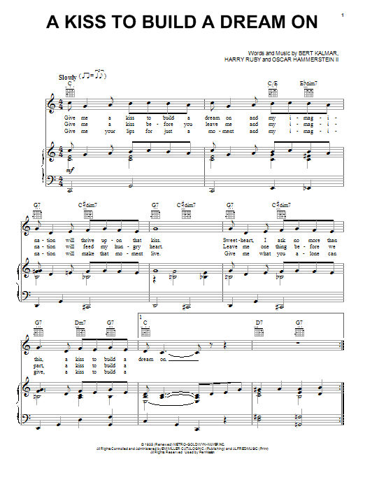 Louis Armstrong A Kiss To Build A Dream On sheet music notes and chords. Download Printable PDF.