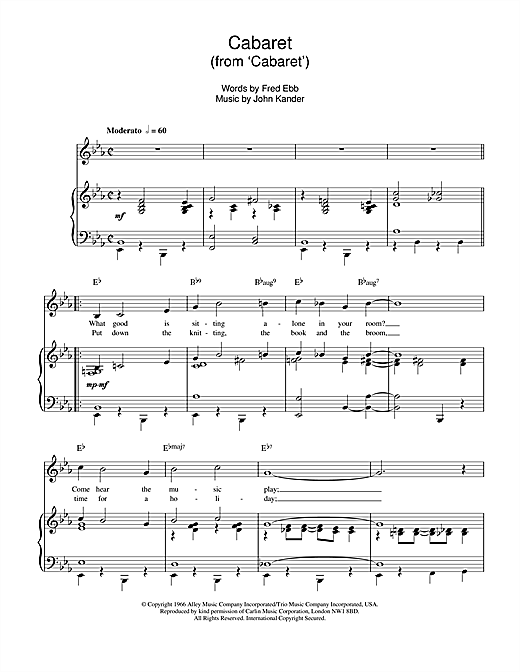Louis Armstrong Cabaret sheet music notes and chords. Download Printable PDF.