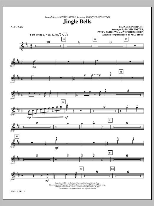 Mac Huff Jingle Bells - Alto Sax sheet music notes and chords. Download Printable PDF.
