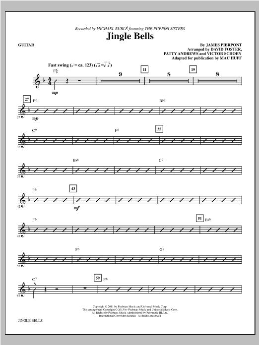 Mac Huff Jingle Bells - Guitar sheet music notes and chords. Download Printable PDF.