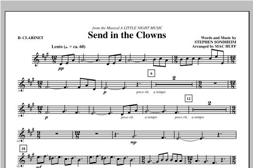 Mac Huff Send in the Clowns - Bb Clarinet sheet music notes printable PDF score