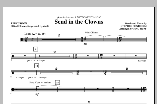 Mac Huff Send in the Clowns - Percussion sheet music notes printable PDF score