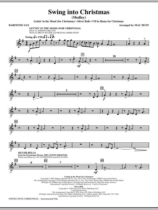 Mac Huff Swing Into Christmas (Medley) - Baritone Saxophone sheet music notes printable PDF score
