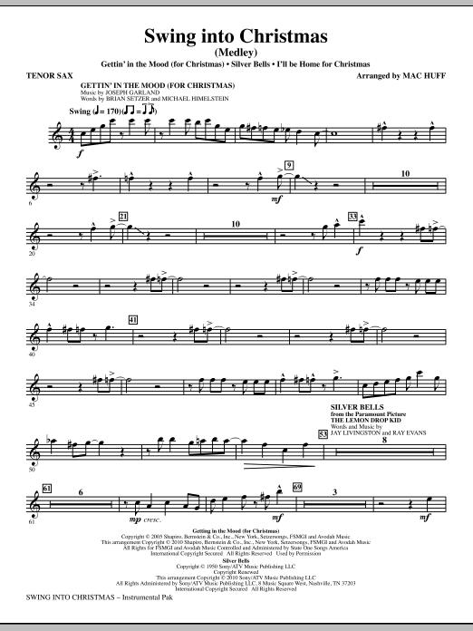Mac Huff Swing Into Christmas (Medley) - Bb Tenor Saxophone sheet music notes printable PDF score