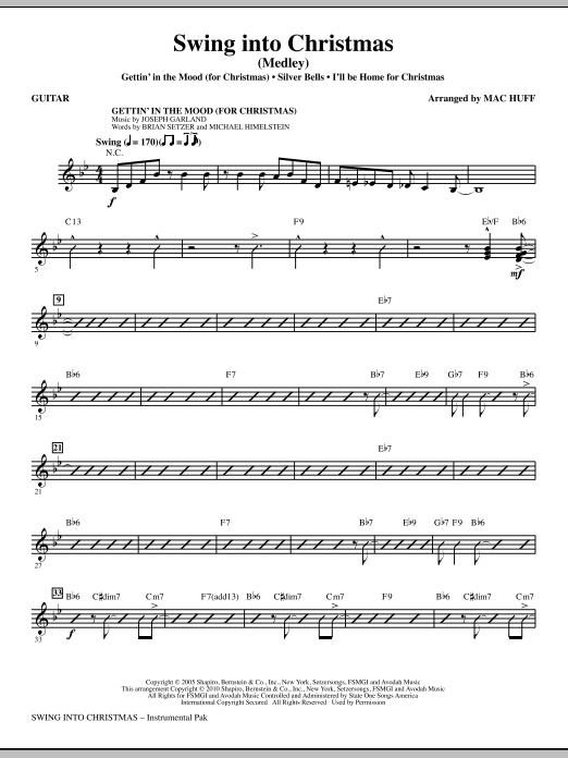 Mac Huff Swing Into Christmas (Medley) - Guitar sheet music notes printable PDF score