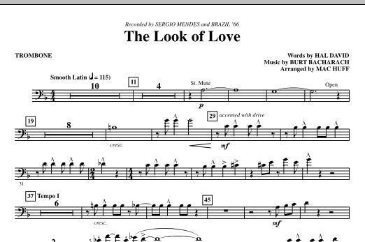Mac Huff The Look Of Love - Trombone sheet music notes printable PDF score