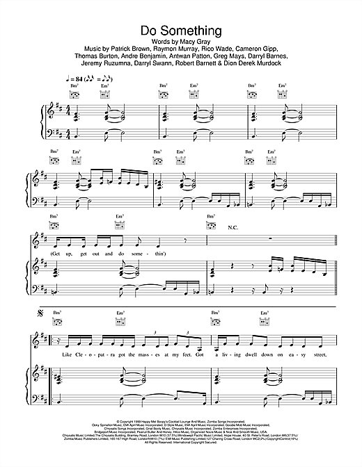 Macy Gray Do Something sheet music notes printable PDF score