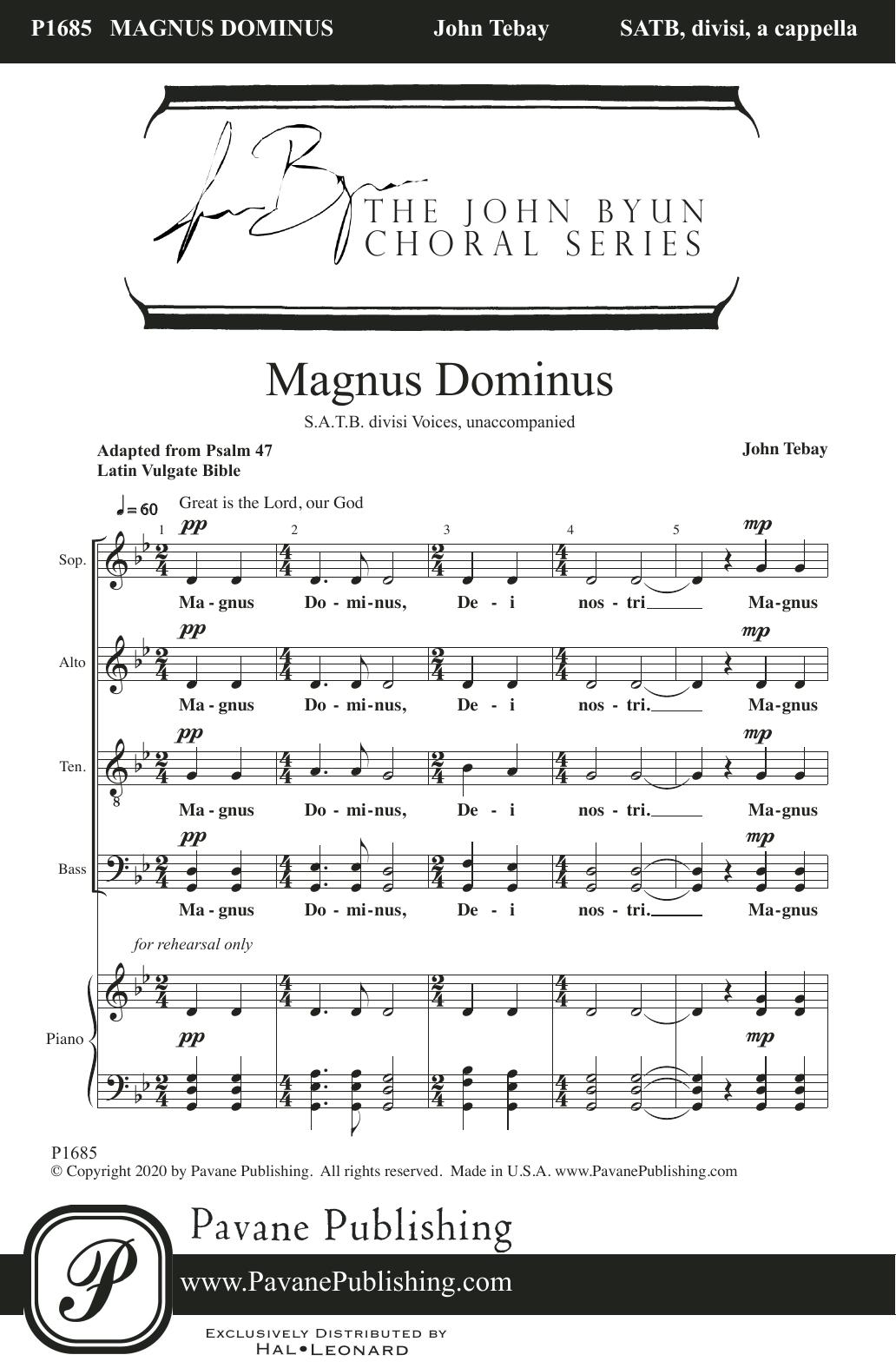 John Tebay Magnus Dominus sheet music notes printable PDF score