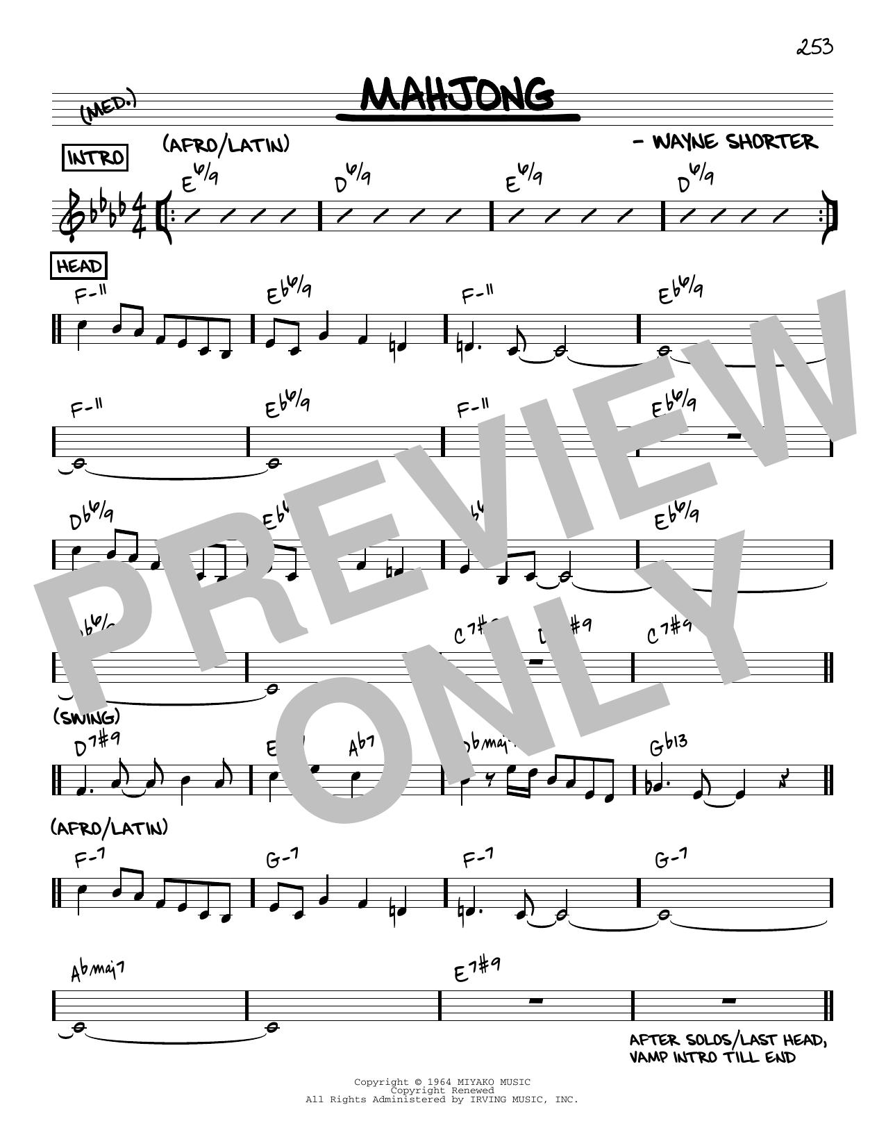 Wayne Shorter Mahjong [Reharmonized version] (arr. Jack Grassel) sheet music notes printable PDF score