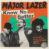 Download Major Lazer 'Know No Better (feat. Travis Scott, Camila Cabello & Quavo)' Digital Sheet Music Notes & Chords and start playing in minutes