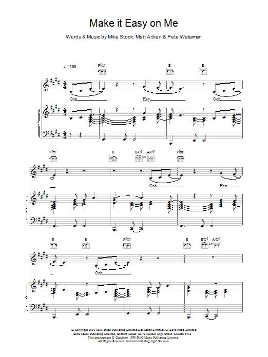 Steps Make It Easy On Me sheet music notes printable PDF score