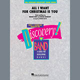 Mariah Carey All I Want For Christmas Is You (arr. Johnnie Vinson) - Eb Alto Saxophone 1 Sheet Music and Printable PDF Score | SKU 418304