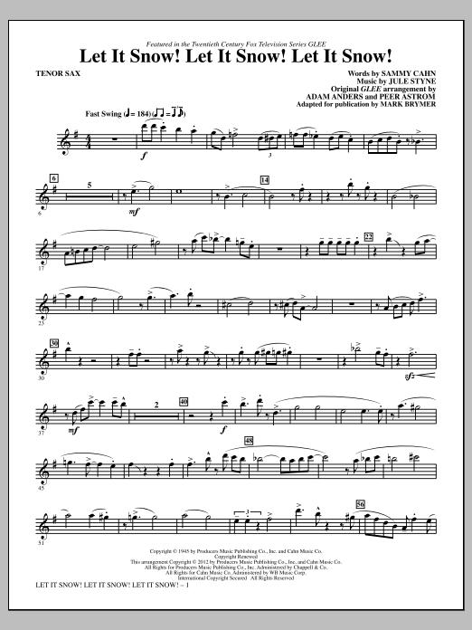 Mark Brymer Let It Snow! Let It Snow! Let It Snow! - Tenor Sax sheet music notes printable PDF score