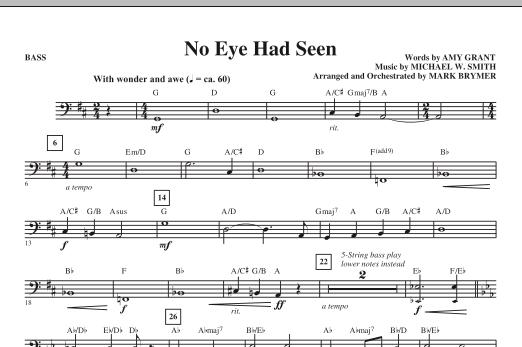 Mark Brymer No Eye Had Seen - Bass sheet music notes printable PDF score