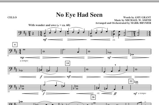Mark Brymer No Eye Had Seen - Cello sheet music notes printable PDF score